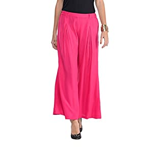 Coral Pink Pleated Palazzo Pants