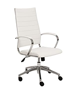 Euro Style Axel High Back Office Chair, White