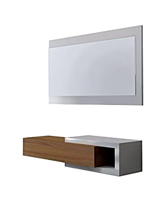Wood & Colors Flurgarderobe Toledo B4 weiß/braun