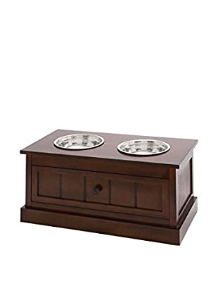 Dark Brown Pet Feeder