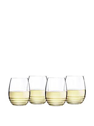 Arc International Set of 4 Eminence 11 Oz. Stemless White Wine, Clear, 11 oz.