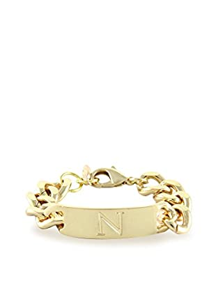 Ettika 18K Gold-Plated N Initial ID Bracelet