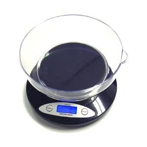 American Weigh 5KBOWL 5KG Digital Kitchen Scale with Removable Bowl