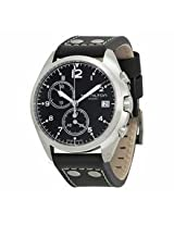 Hamilton Khaki Pilot Pioneer Chronograph Black Dial Black Leather Mens Watch H76512733