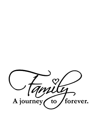 Ambiance Live Wandtattoo Family forever schwarz