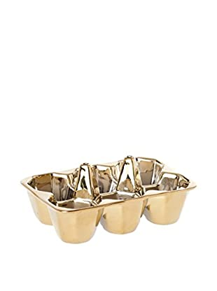 Seletti Egg & Cracker Holder, Gold