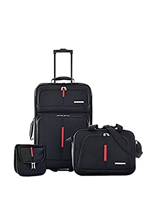 Olympia Manchester Carry-On Travel Set, Black