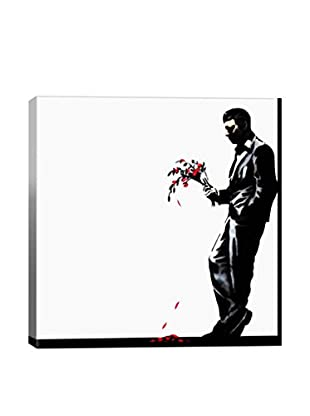 Banksy Waiting In Vain At The Door Of The Club #2 Gallery Wrapped Canvas Print