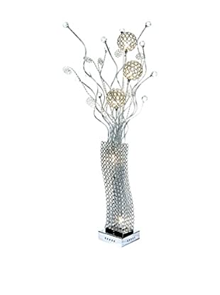 Illuminated Décor 6-Light LED Table Lamp With Crystals, Natural