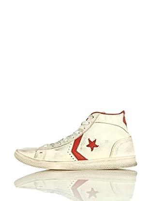 Converse Zapatillas Pro Leather Mid Leather Ltd (Blanco / Rojo)