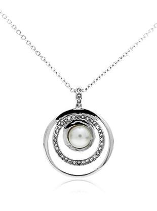 Misaki Conjunto de cadena y colgante Orbit Large plata de ley 925 milésimas rodiada
