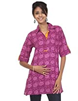 Rajrang Cotton Kurti - PTP00018 (Pink, Purple)