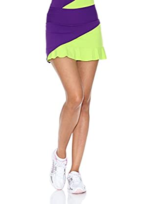Naffta Falda Short Tenis / Padel (Purpura / Pistacho Claro)