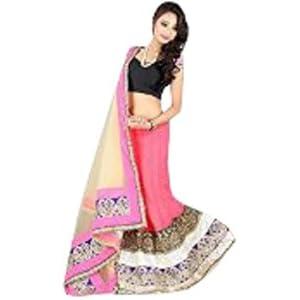 Designer Stylish Net Velvet Lehenga Choli Ghaghra Saree T166P