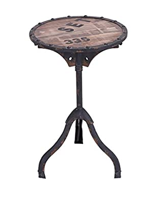 UMA Metal & Wood Accent Table, Brown
