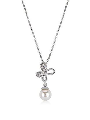 Divas Diamond Collar Diamond Pearl Butterfly Plateado