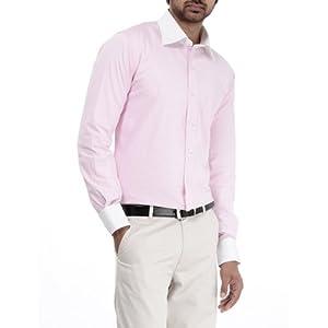 Genesis Pink Striped Men Shirt 11GCSH26184