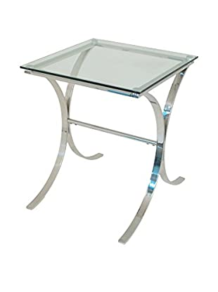 Three Hands Metal/Glass End Table