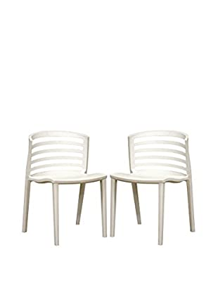 Baxton Studio Set Of 2 Gioia Side Chairs, White