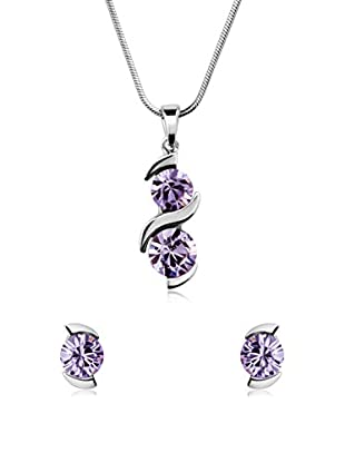 Passion Obscure Set Halskette und Ohrringe  violett