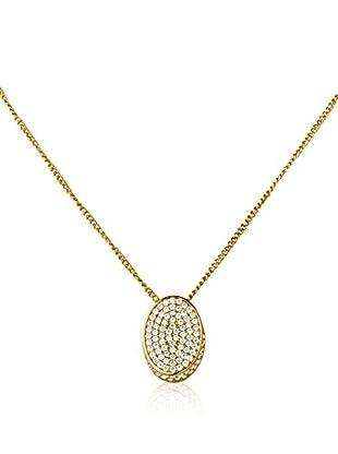 DYRBERG KERN Conjunto de cadena y colgante Ellipa S plata de ley 925 milésimas bañada en oro