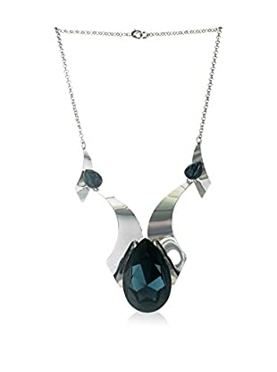 Crystal from Swarovski Collar Verde Oscuro / Plateado