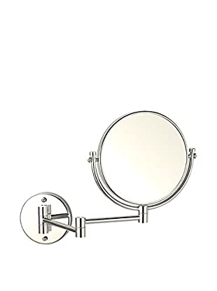 Nameeks Double Sided Wall Mounted 3X Makeup Mirror, Satin Nickel Finish