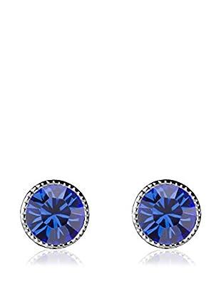 Absolute Crystals Ohrring Mini Dot royalblau