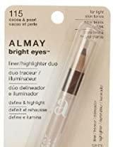 Almay Bright Eyes Liner/Highlighter Duo, Cocoa & Pearl 115