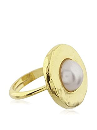 Córdoba Joyeros Anillo  plata de ley 925 milésimas bañada en oro