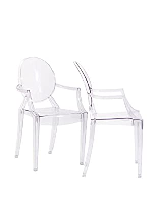 Modway Casper Dining Armchairs Set Of 2 (Clear)