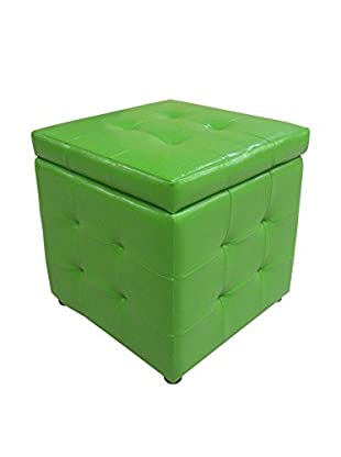 Evergreen Home Puff Contenedor Verde