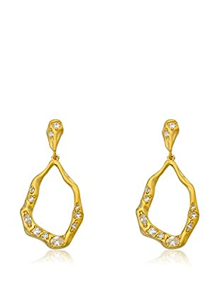 Riccova Retro Open Teardrop Earrings with CZs