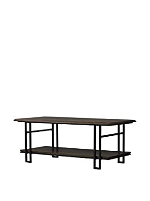 Baxton Studio Newcastle Wood & Metal Coffee Table, Brown/Antique Bronze