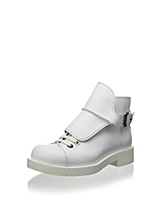Jil Sander Women's High Top Bootie with Lace Buckle Detail (Bianco)