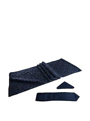 GIORGIO DI MARE Set: Schal + Einstecktuch + Krawatte  Azul Marino