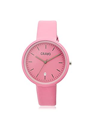 Crayo Women's CRACR2408 Easy Hot Pink Leather Watch