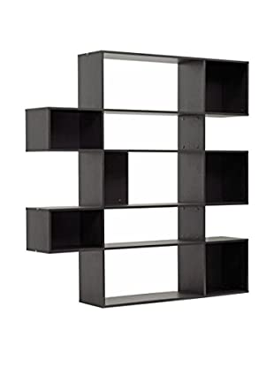 Baxton Studio Lanahan 5-Level Display Bookshelf, Espresso