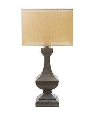 Surya Davis Outdoor Table Lamp, Yellow/Antique Pewter
