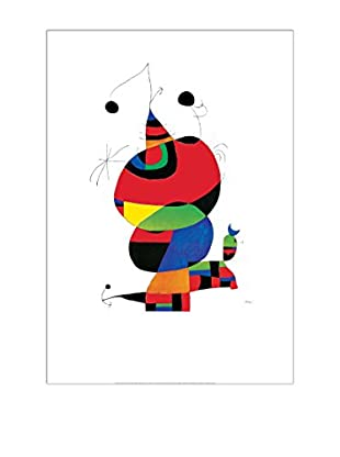 Artopweb Panel Decorativo Mirò Hommage An Picasso 70x100 cm Multicolor