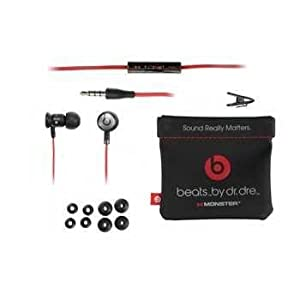 Monster iBeats Headphones-Black with Red