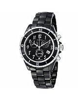 Grovana Chronograph Black Dial Black Ceramic Ladies Watch 4001.9187
