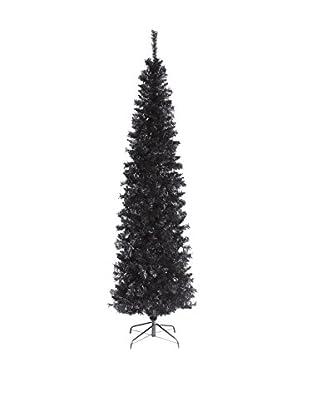 National Tree Company 6' Black Tinsel Tree