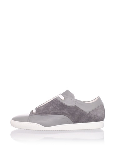 Calvin Klein Men's Angle Side Panel Sneaker (Granite)