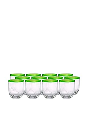 Artland Festival Set of 12 Double Old Fashioned Glasses, Lemongrass