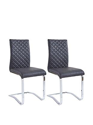 Modern Loft Stuhl 2er Set Margaret A1