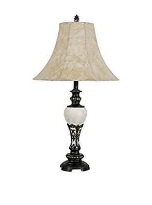 ORE International Antique-Style Table Lamp, Ivory