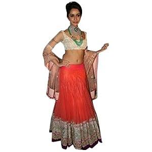 Ninecolours Shraddha Kapoor Lehenga - Orange