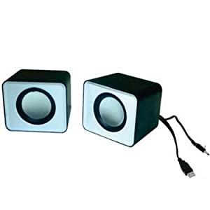Flashmob Mini Notebook Pc Speaker - White & Black