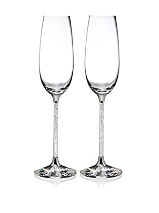Swarovski Set of 2 Crystalline Champagne Toasting Flutes